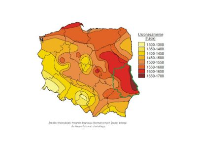 nasłonecznienie Polska